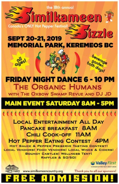 Similkameen Sizzle 2019 poster