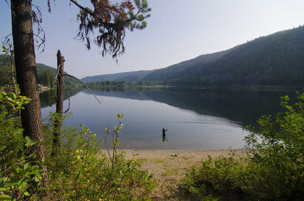 Fishing Otter Lake near Tulameen