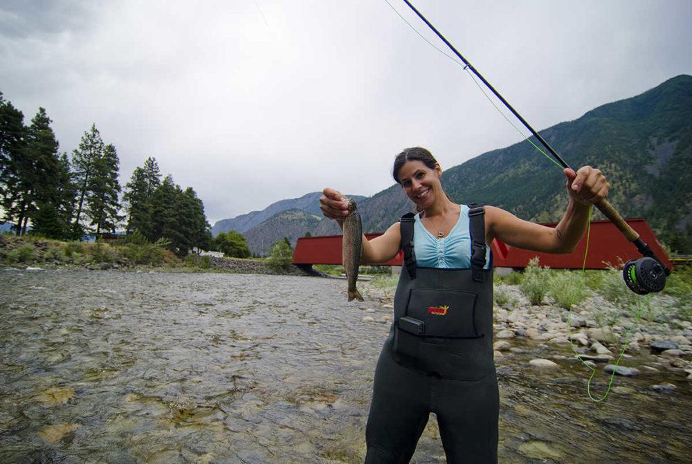 Fishing the river near Keremeos