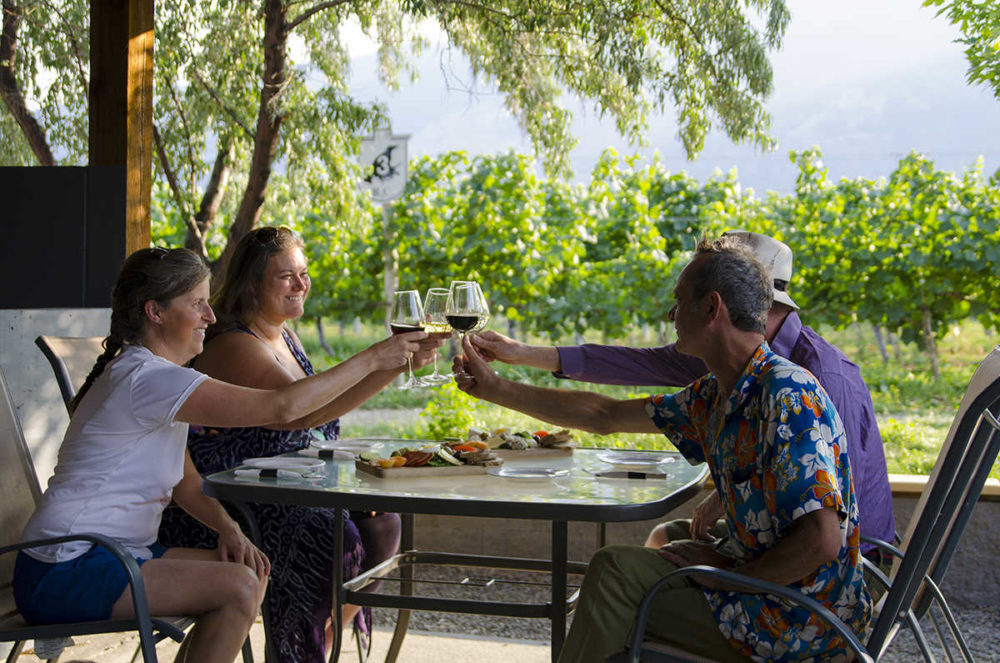 Wine tasting at the Crowsnest