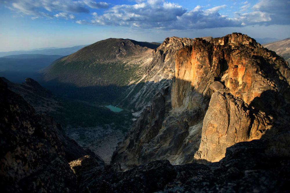 Stunning views of rugged peaks