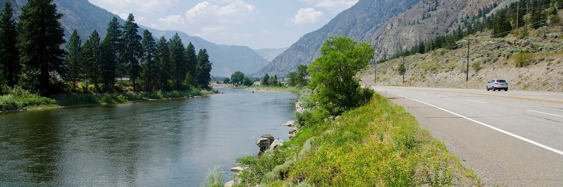 Driving Hwy 3 beside the Similkameen River