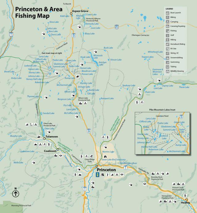 Princeton & Area Fishing Map