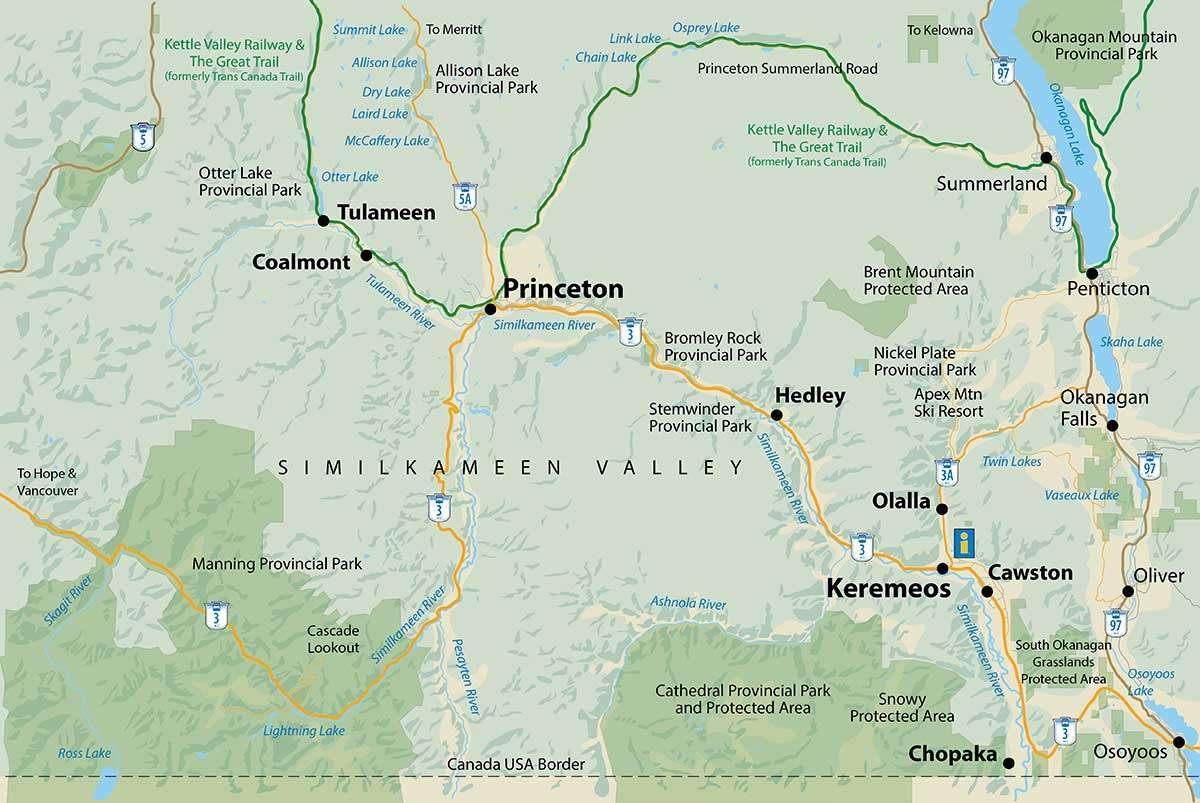 Similkameen Valley Area Map