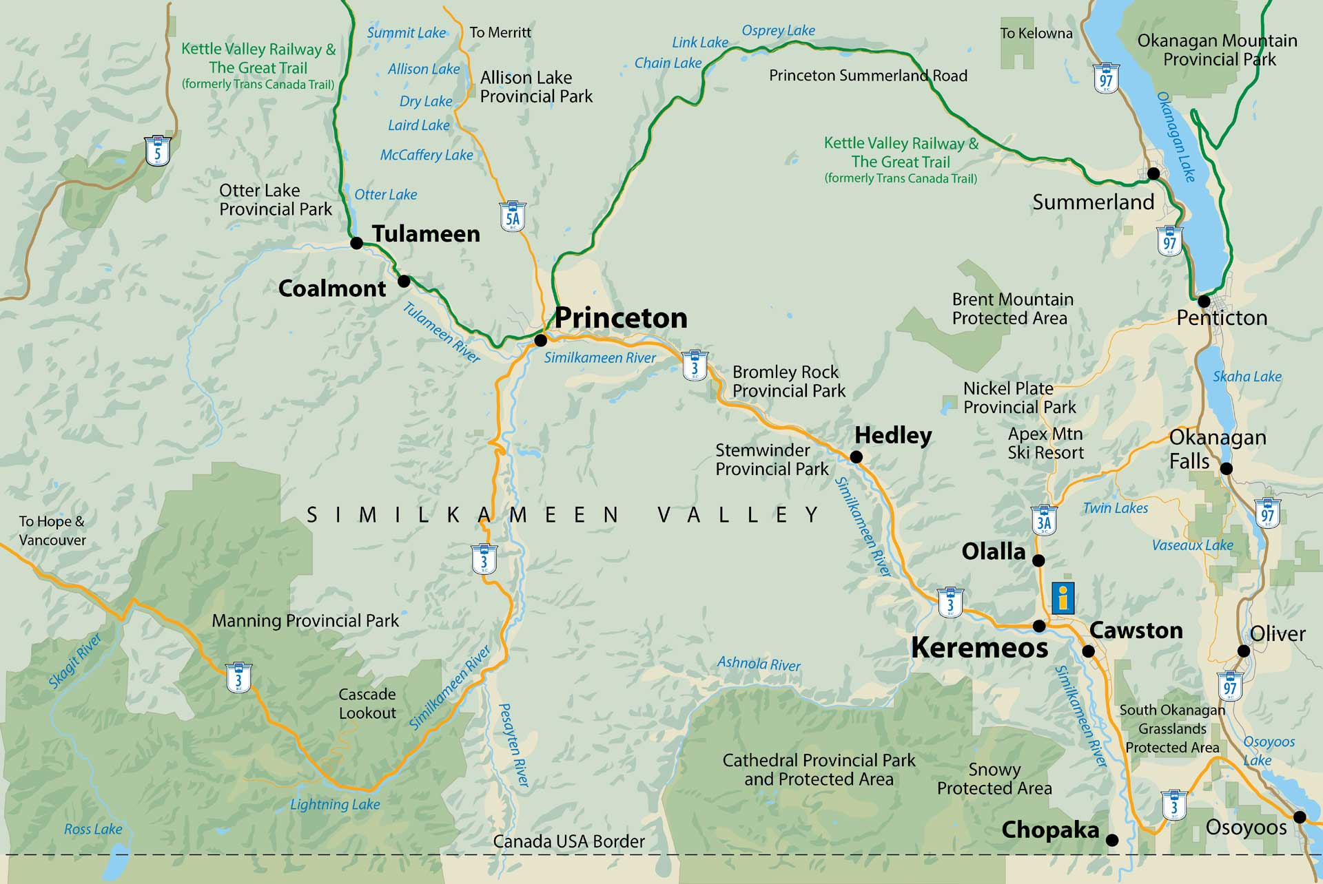 Map of the Similkameen Valley