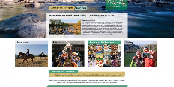 Screenshot of new Similkameen Valley home page