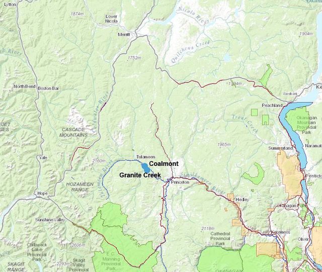 Granite Creek Ghost Town - map