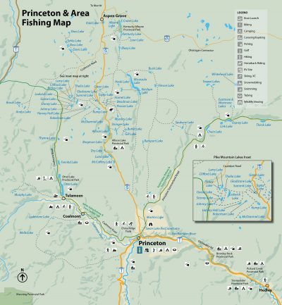 Princeton & Area Fishing Map