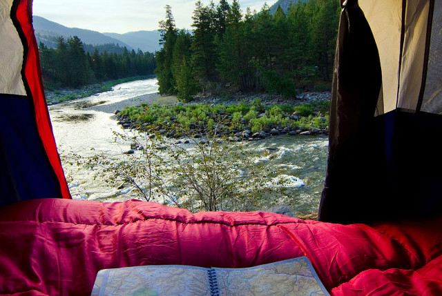 Wake up to a view of the Similkameen River when you go camping here. Camping & RVing