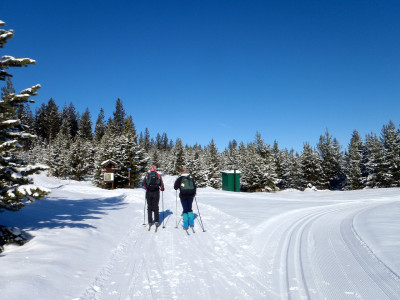 Nordic skiing on China Ridge in the winter in Similkameen Valley
