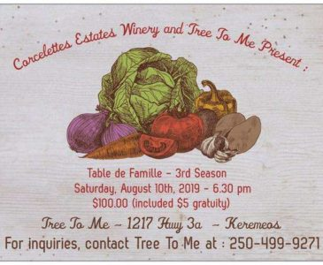 Table de Famille - wine and dinner pairing