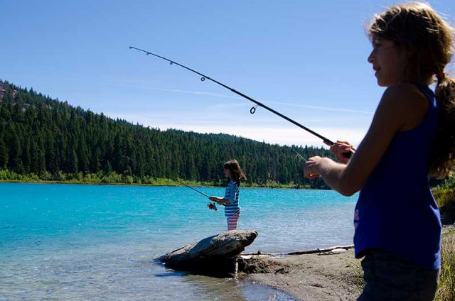Lake fishing in the Similkameen Valley