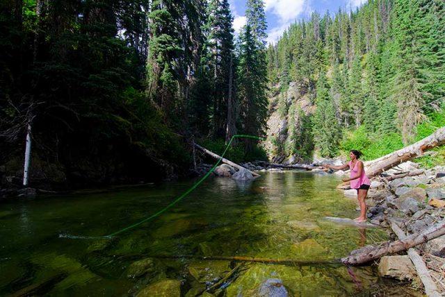River fishing in the Similkameen