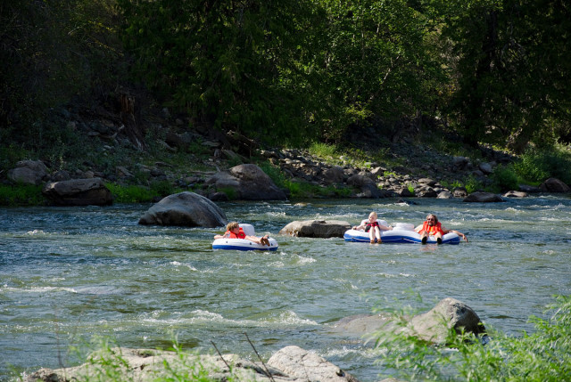 Floating down the Similkameen River