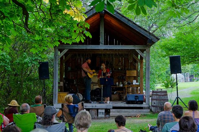 Folk singers - summer concert series at the Old Grist Mill