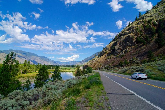 Driving in the Similkameen Valley