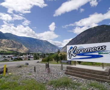 Keremeos, BC - welcome sign