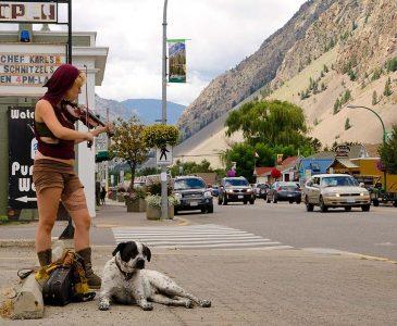 Keremeos, BC - street musician