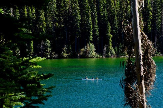 Canoeing on Lightning Lake, Manning Park