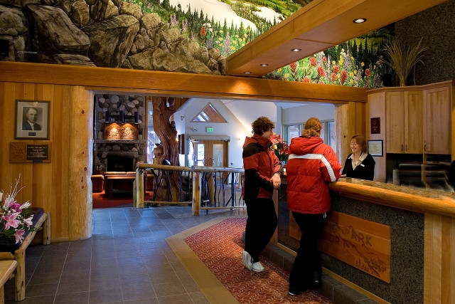 Resort lobby in the Similkameen, Resorts