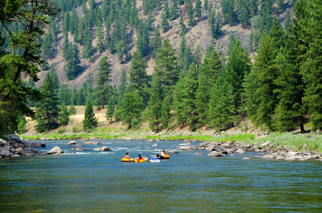 Floating the Similkameen River
