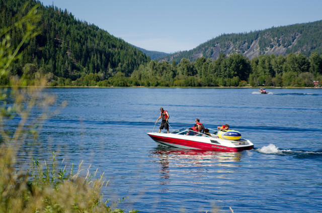 Boating  and fishing in the Similkameen Valley