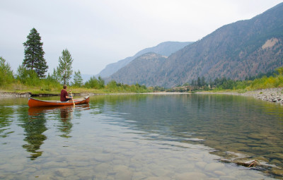 Canoeing Similkameen River