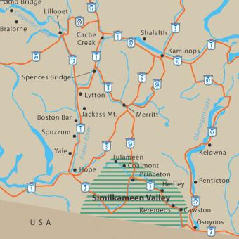 Southern BC Map