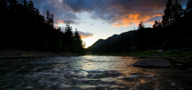 Similkameen River sunset