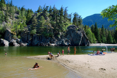 Swimming in the Similkameen River, Similkameen Valley, BC