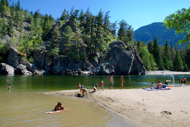 Swimming in the river, Summer in the Similkameen