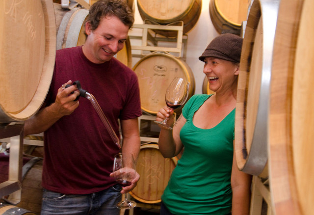 Barrel wine tasting and one of the Similkameen Wineries