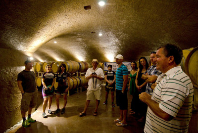 Wine tasting and Seven Stones in the caves, one of the Similkameen Wineries